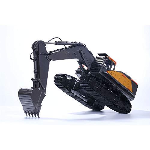 LEDU RC aleación Excavadora, 1: 14 22CH Gran RC Camiones Simulación Excavadora Remoto Juguetes de Control del vehículo para Niños
