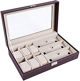 Sunglasses Storage Box Multi-Large Sunglasses Storage Box Jewelry Display Collection Box (Color : Brown)