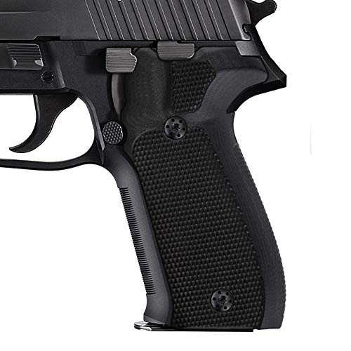 Cool Hand Grips Compatible with Sig Sauer P226, Checker Texture, Black G10, 226-DC-1