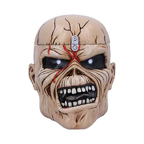 Nemesis Now Iron Maiden Eddie The Trooper Head Trinket Box Joyero, polirresina, Beige, Talla única
