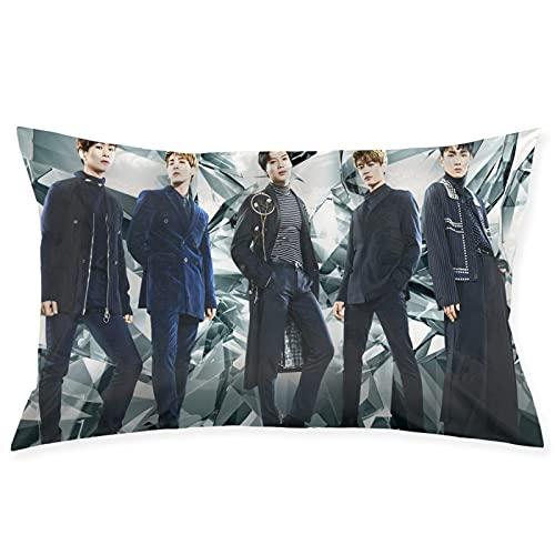 K-POP Shinee - Funda de cojín cuadrada para sofá, silla, sofá, dormitorio, salón, decoración del hogar, fundas de almohada de 50,8 x 76,2 cm