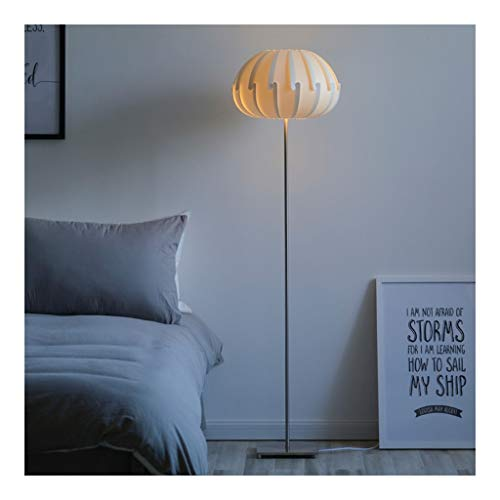 Floor Lamp Nordic Modern Slaapkamer Permanent Light met metalen onderstel, Living Room Verlichting for achter de bank, Creative Decoration Lamp DZE (Color : Silver, Size : 39cm*146.5cm)