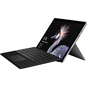 Latest Model Microsoft Surface Pro 12.3″ PixelSense Touchscreen High Resolution Tablet PC with Black Type Cover, Intel Core M3-7Y30 Processor, 4GB RAM, 128GB SSD, WIFI, Windows 10 Pro, Silver