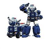 WZLDP Paul Coche deformación Super Robot Alas Paul Comando de tráfico en Tierra vehículo, Coche Deformación Robot-Sheriff BaoPaul Transfiguración del Coche policía Paul Robot Set
