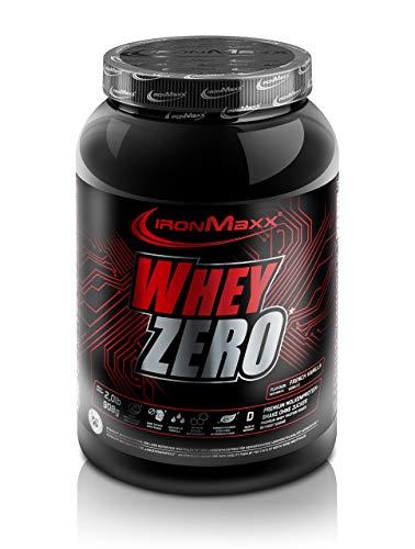 IronMaxx Whey Zero Protein, Vanille – Molkenprotein mit 97 % Whey Anteil – Zuckerfreies Protein Isolat für den Muskelaufbau – 1 x 908 g Pulver