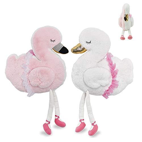 Soft Landing Backflips Swan/Flamingo Reversible Character Plush Now $9.03