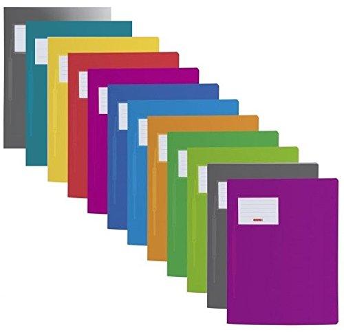 12 Farben Schnellhefter Fact! PP, 24 x 31 Centimeter für A4
