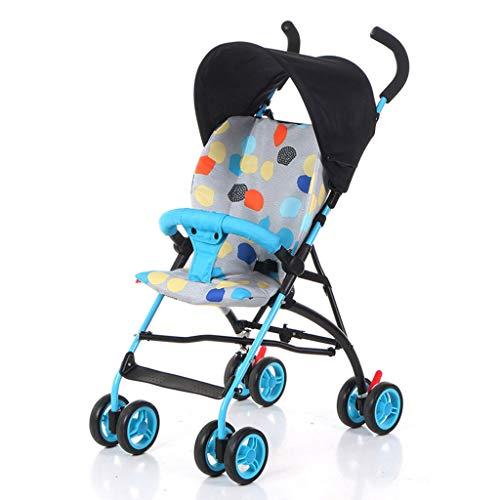 Wjvnbah Carritos ligero De los niños en las cuatro ruedas de la carretilla, cochecito de bebé, Portátil Amortiguador, 3 segundos, recorrido que dobla la silla de paseo, carro de bebé, universal for to