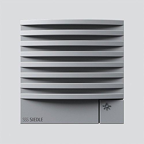 Siedle 4831380 Türlautsprechermodul 1und N-System, TLM 612-02 SM, Silber metallic