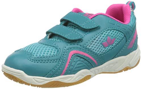 Lico Mädchen Enjoy V Multisport Indoor Schuhe, Türkis/Pink, 33 EU