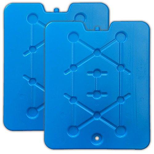 HAC24 2er Set XXL Flache Kühlelemente blau Kühlakkus Kühlbox Kühlpads Kühltasche