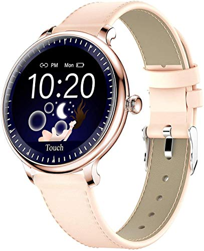 Reloj inteligente para mujer Yohuton Smartwatches Fitness Tracker compatible con iOS Android Phone IP67 Reloj impermeable Monitor de ritmo cardíaco, r...