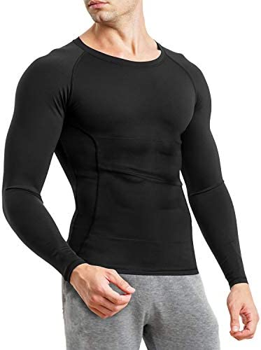 Wonderience Compression Shirts for Men Long Sleeve Undershirt Body Shaper for Men Waist Trainer product image