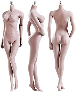 O-Best Super-Flexible Action Figure Female Seamless Doll Body 1/6 Figure 28 Points of Artculation with Stainless Steel Ske...