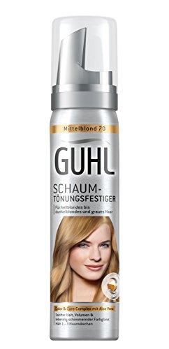 Guhl Schaum-Tönungsfestiger 70 Mittelblond mit Aloe Vera für hellblondes bis dunkelblondes und graues Haar, 1 x 75 ml