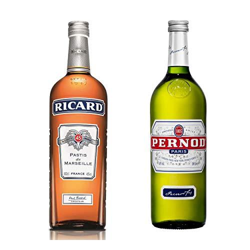 Pernod & Ricard Kombi-Set, Anislikör + Pastis, Aperitif, Spirituose, Alkohol, 2 x 1 L