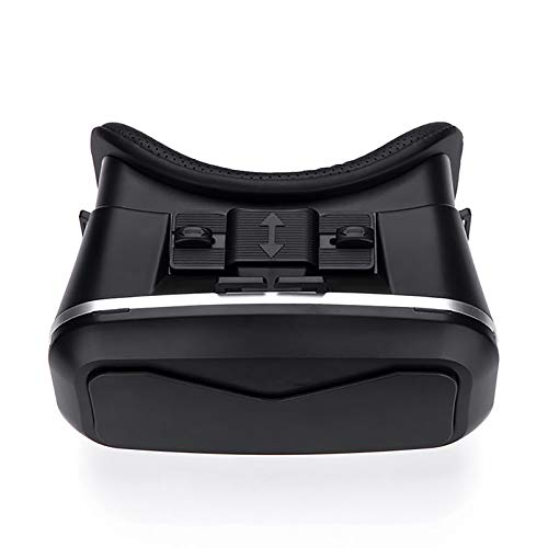 LSJZZ Auriculares VR Auriculares Virtuales Vagas 3D, Auriculares estéreo, adecuados para Todos los teléfonos Inteligentes a Menos de 6 Pulgadas de Longitud (Negro)