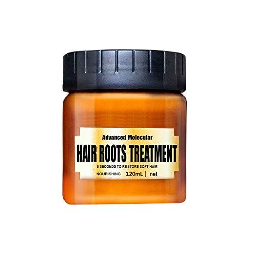 Fulltime (TM) Advanced Molecular Hair Roots Treatment, Keratina Tratamiento para el cabello Mascarilla Acondicionador nutritivo, Reparaciones Daños Cabello Raíz del cabello (B)