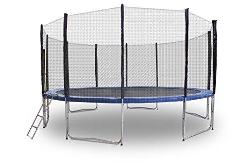 ms-point Gartentrampoline Trampoline Outdoor-Trampoline Fitness-Trampoline 490cm, inkl. Randabdeckung,Sicherheitsnetz und Leiter