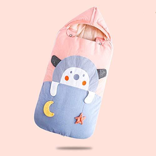 SENFEISM Wickeldecke Babyschlafsack Kinderwagen Winter Dick Cartoon Schlafsäcke für Kleinkinder Rollstuhl Umschläge für Neugeborene