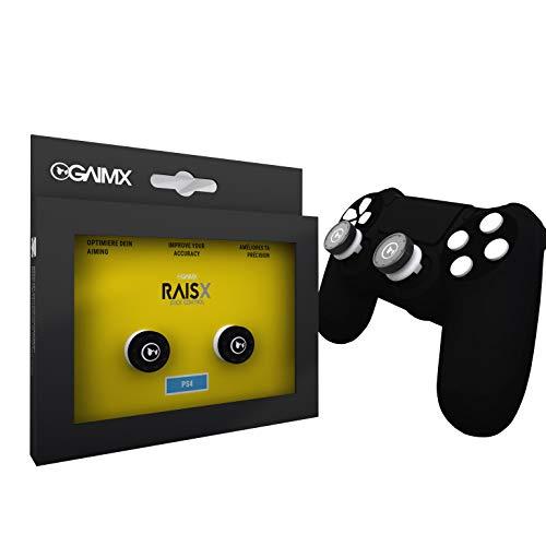GAIMX RAISX PS5 PS4 Stick Control Aim-Hilfe / Zielhilfe - Aim-optimierer - Playstation 4 & 5 Zubehör- Thumbstick-Verlängerung mit auswechselbarem Grip-Caps