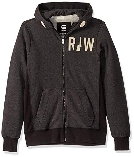 G-Star Raw Men's Netrol Hooded Vest Sw Long Sleeve Sweatshirts, Black Heather, X-Large