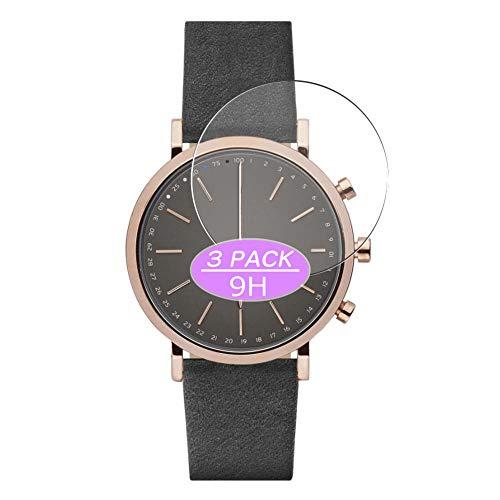 VacFun 3 Piezas Vidrio Templado Protector de Pantalla Compatible con Skagen Hybrid Smartwatch WATCH SIZE 40mm, 9H Cristal Screen Protector Película Protectora Reloj Inteligente