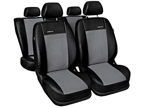 Citroen Berlingo Sitzbezüge nach Maß Autoplanen perfekte Passform Schonbezüge Sitzschoner Velour + Strickpolster ®Auto-schmuck (Berlingo II grau)