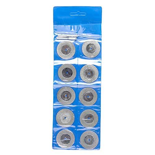 GFHDGTH voor Dremel Rotary Tools 10 stks 16-50MM diamant slijpen snijden wiel schijf, slijper schurende schijven met 2X aansluiten schacht, 35 mm.