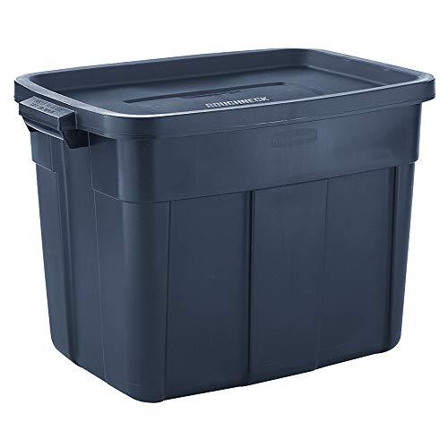 Rubbermaid Roughneck️ Storage Totes 18 Gal Pack of 6 Durable, Reusable, Set of Plastic Storage Bins