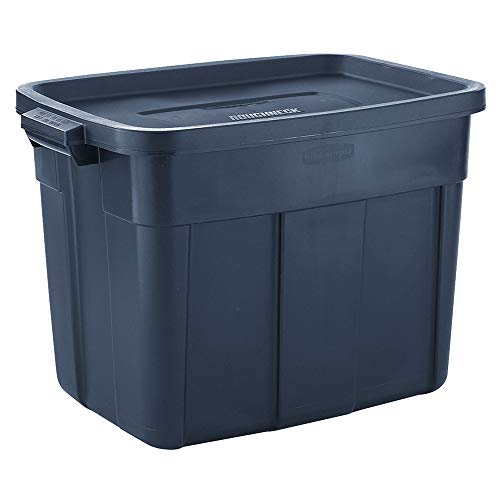 Rubbermaid Roughneck️ Storage Totes 18 Gal Pack of 6 Durable, Reusable, Set of Plastic Storage Bins