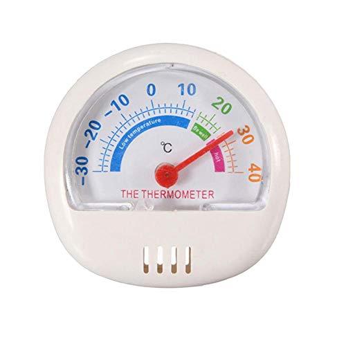 STRIR Frigorífico Termómetro - Nevera - congelador - termómetro redondo (Blanco)