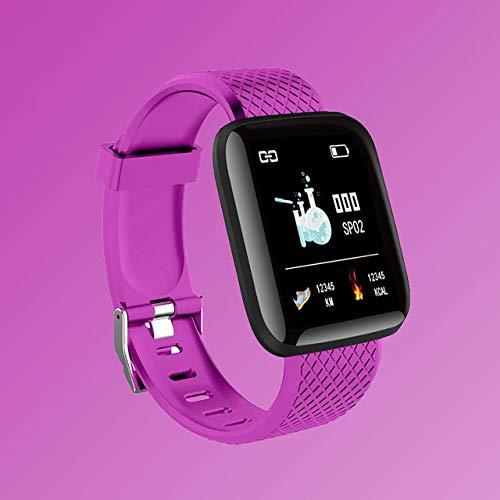 UIEMMY Relojes para Mujer Reloj Deportivo Inteligente Reloj Digital LED electrónico para Mujer Reloj de Pulsera para Mujer Reloj de Pulsera para Mujer Horas, Morado
