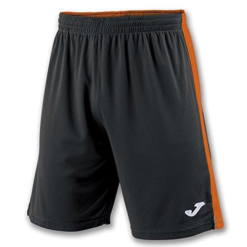 Joma Tokio II Pantalones Cortos, Hombres, Multicolor (Negro/Naranja), S