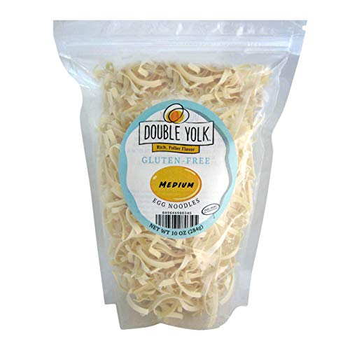 Gluten Free Noodles Amish Wedding Foods Double Yolk Medium Egg Noodle 10 oz Bag (One Bag)