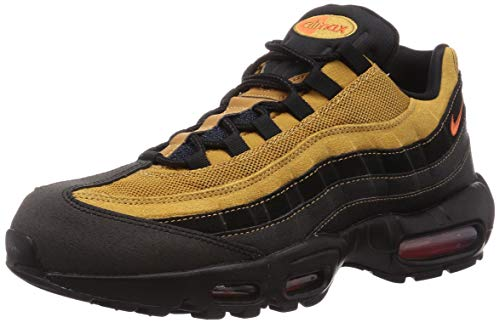 Nike Men's Air Max 95 Essential Black/Cosmic Clay-Wheat (AT9865 014) - 8.5