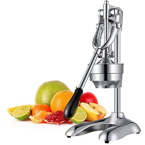 OZAVO Saftpresse Manuell Edelstahl Zitruspresse mit Hebel, Hand Zitronenpresse, Entsafter Ideal für Orangen alle Zitrusfrüchten und Granatapfel