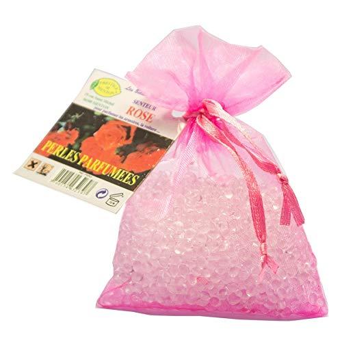 Perles parfumées pour armoire, linge, voiture - senteur Rose - Artisan Parfumeur en Côte d'Azur