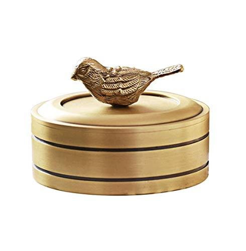 YASE-king Gorrión Cenicero luz Creativa de Cobre joyería Regalo de la Manera Caja de la Sala la decoración del hogar con los Ornamentos de la Cubierta de Cobre Puro de Cenicero