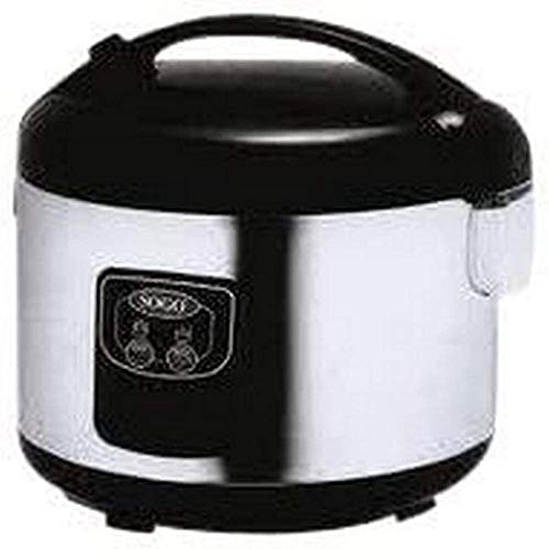 Sogo arroz-10085 – cocedor au Vapor de Arroz – Rice Cookers (Black, Stainless Steel, 50/60 Hz)