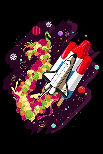 Journal: Space Shuttle Science Spaceship Astronaut Bomb Pop Black Lined Notebook Writing Diary - 120 Pages 6 x 9