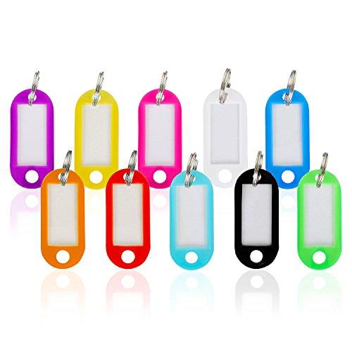 WINTEX® Schlüsselschilder 100 Stück – mit auswechselbarem Etikett, witterungsbeständig – Schlüsselanhänger, Schlüsselbeschriftung
