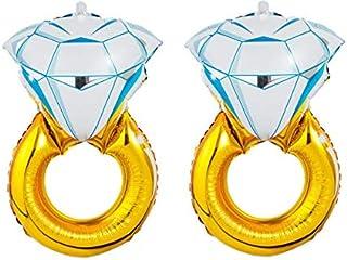 "CharmTM Set of 2 Huge Engagement Diamond Ring Balloons 30"" Wedding Proposal Party Decoration Bride Bachelorette"