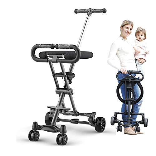 LARRY SHELL Leichte Kinderwagen, Faltbarer Reisekinderwagen mit Sonnenschirm Ergonomie Design Höhenverstellbar Sicher, komfortabel, für Kleinkinder von 6 Monaten bis 4 Jahren