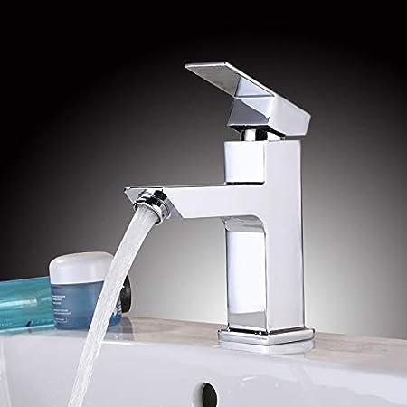 Waschtisch-Badarmatur Wasserhahn Einhebelmischer mit Ablaufgarnitur Armatur Weiß