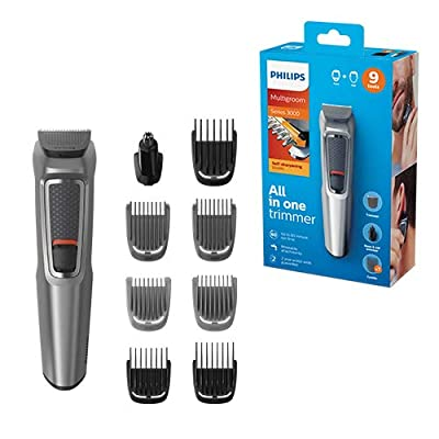 Philips Series 3000 9-in-1 Multi Grooming Kit for Beard and Hair with Nose Trimmer Attachment - MG3722/33 from Philips