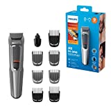 Philips 9-in-1 All-In-One Trimmer, Series 3000 Grooming Kit for Beard & Hair with 9 Attachments,...