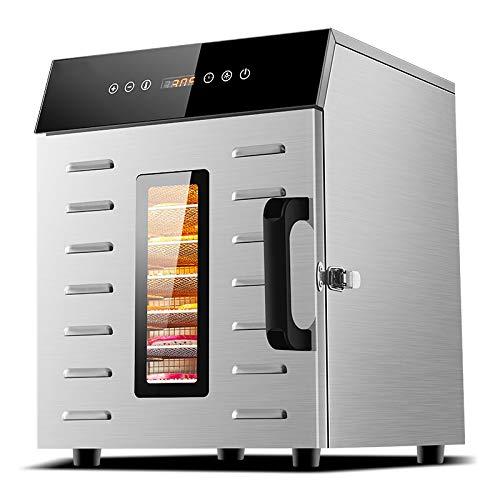 SHIJING Food Dehydration Dryer Trockenobstmaschine Smart Touch für Haushalt und Gewerbe 8-Schicht-Fassungsvermögen Visuelle Tür beleuchtet