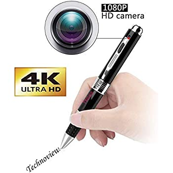 Inovics Spy Pen Camera with Lens Cover 1080p 4K Full HD Video and Audio Recorder 12 megapixel Lens for Clear Recording for Home Office Room Meeting Hidden Cam in Pen