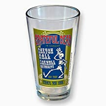 Grateful Dead 1977 Concert Pint Glass Tumbler - Barton Hall Cornell University Ithica, NY (5-3/4